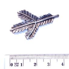 Ozdoba pro mysliveckou kravatovou sponu - motiv Smrková větvička