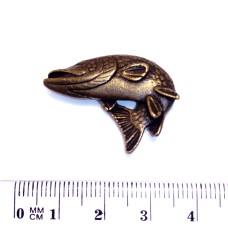 Ozdoba pro Rybářskou kravatovou sponu - motiv Štika