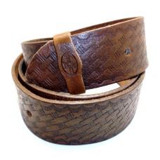 Kožený dámský opasek zdobený - proutěný vzor 30 mm